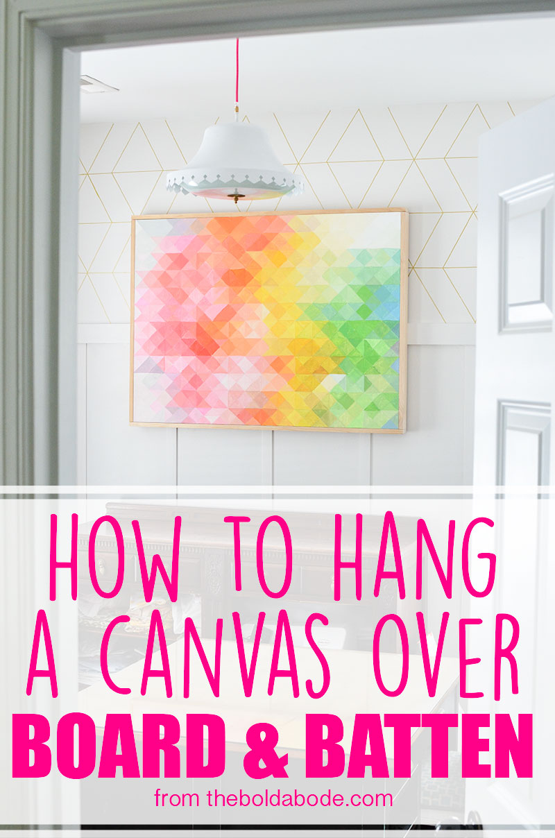 How to hang a canvas over board and batten for What is canvas board