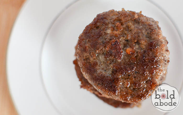 Tired of overcooked sausage patty hockey pucks?  Here is how to cook the perfect sausage patty so it's tender and juicy and every so slightly crisp!