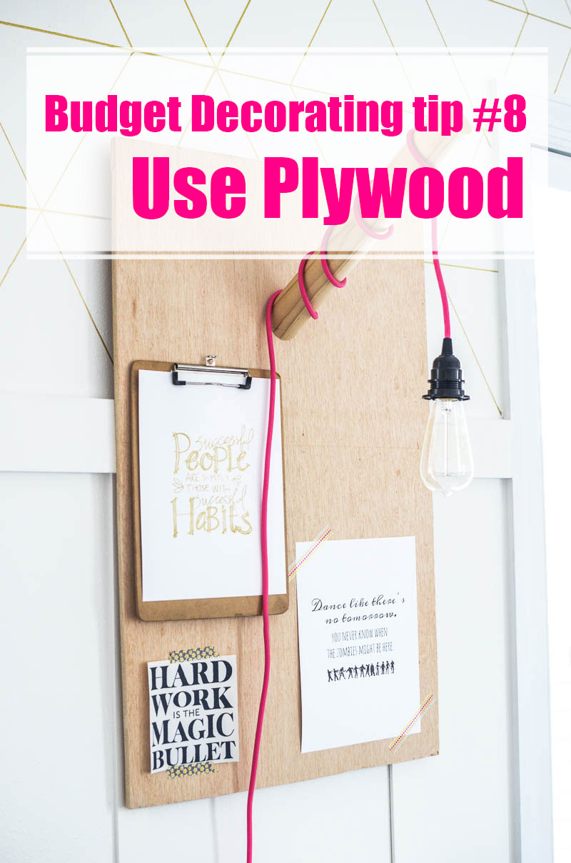 how to cut plywood at home