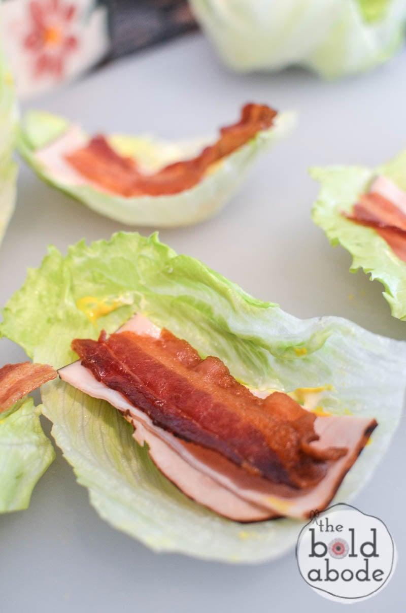 turkey and bacon lettuce wraps-4