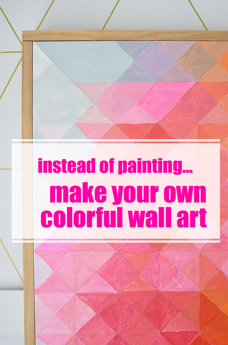 Create colorful art instead of painting the walls