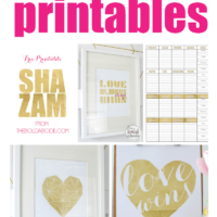 12 Beautiful (and FREE) Gold Foil Printables