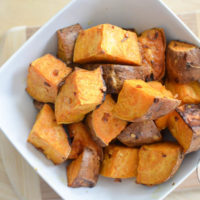 Hot and Spicy Baked Sweet Potatoes