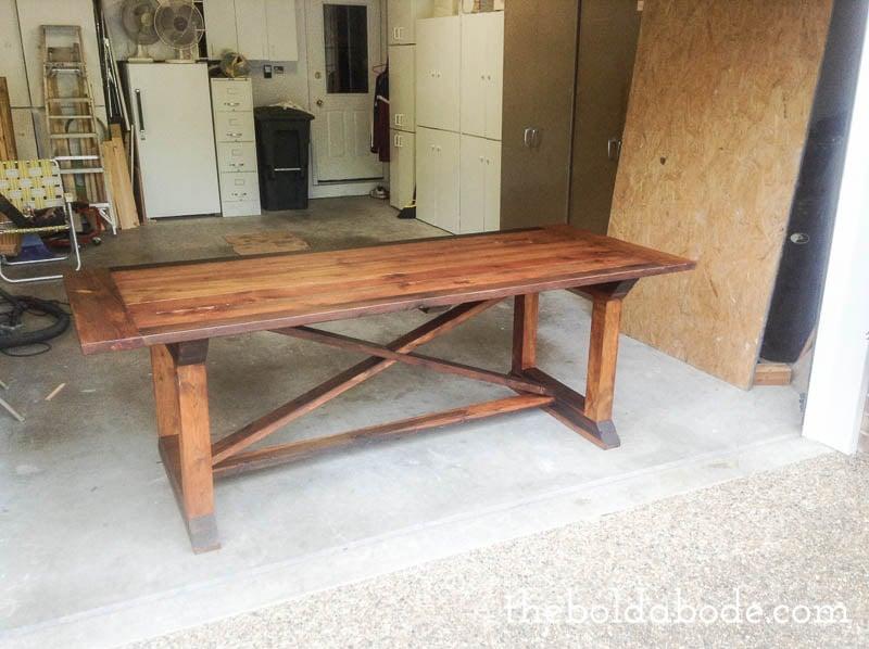 diy farmhouse table8