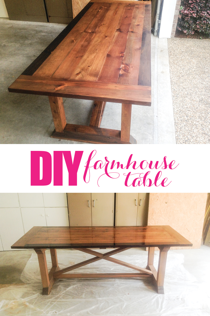 Diy farmhouse table with tips from grandy for Build your own farmhouse