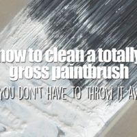 How to Clean a Really Dirty Paintbrush So You Don't Have to
