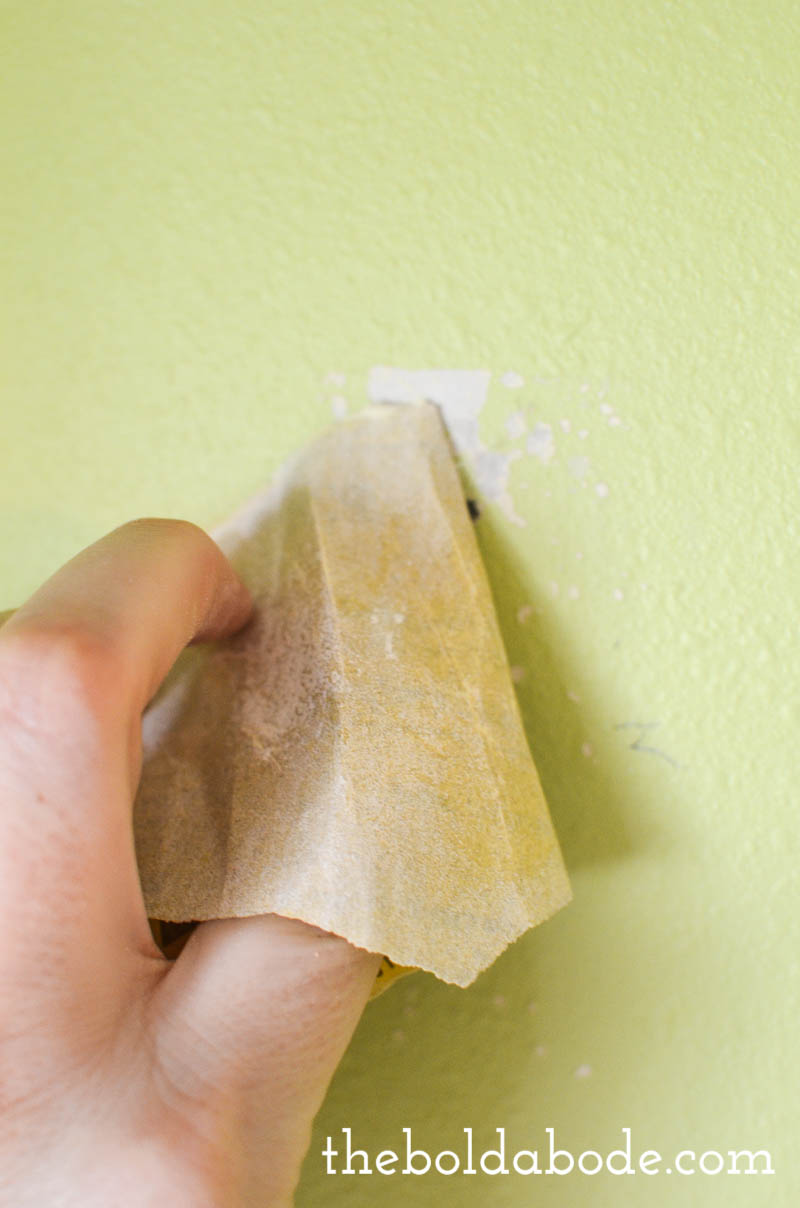Tip #7: SAND ANY ROUGH SPOTS ON YOUR WALLS. {from 7 Things You Need to Do Before You Ever Pick Up a Paintbrush! {or how to prep a room for paint like a pro}