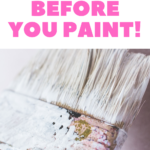 Picture of a paintbrush with white paint