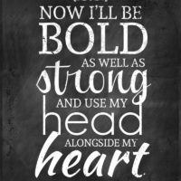 Now I'll Be Bold – Free Printable