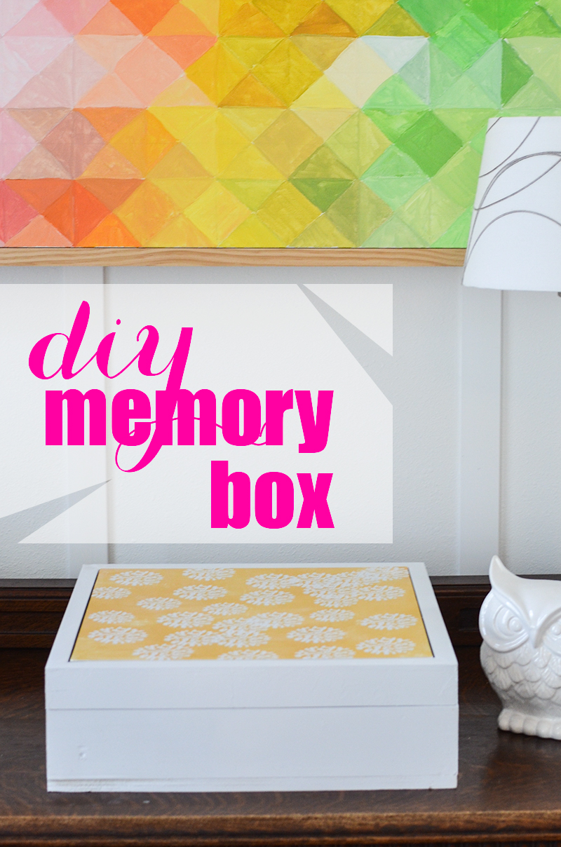 Create this special DIY Memory Box, with interchangeable Damage-Free Wall Tiles from Command Brand!  #DamageFreeDIY #spon