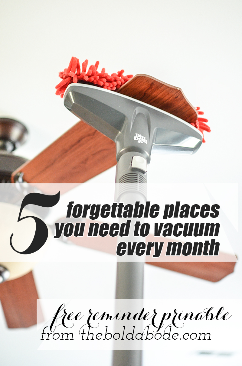 5 forgettable places you need to vacuum every month (with quick cleaning hacks)!  #DirtDevil360Clean #Pmedia #ad