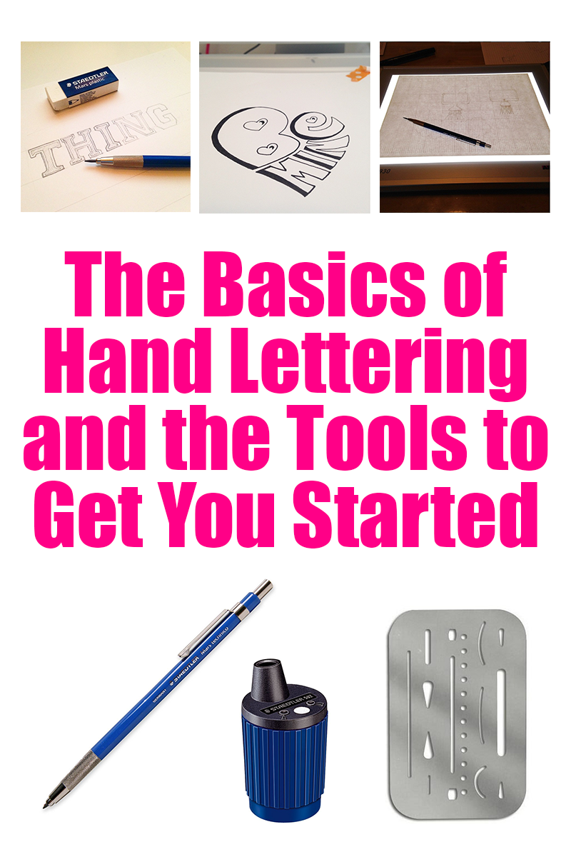 Learn the basics of hand lettering with some simple tips and these great tools to get you started!
