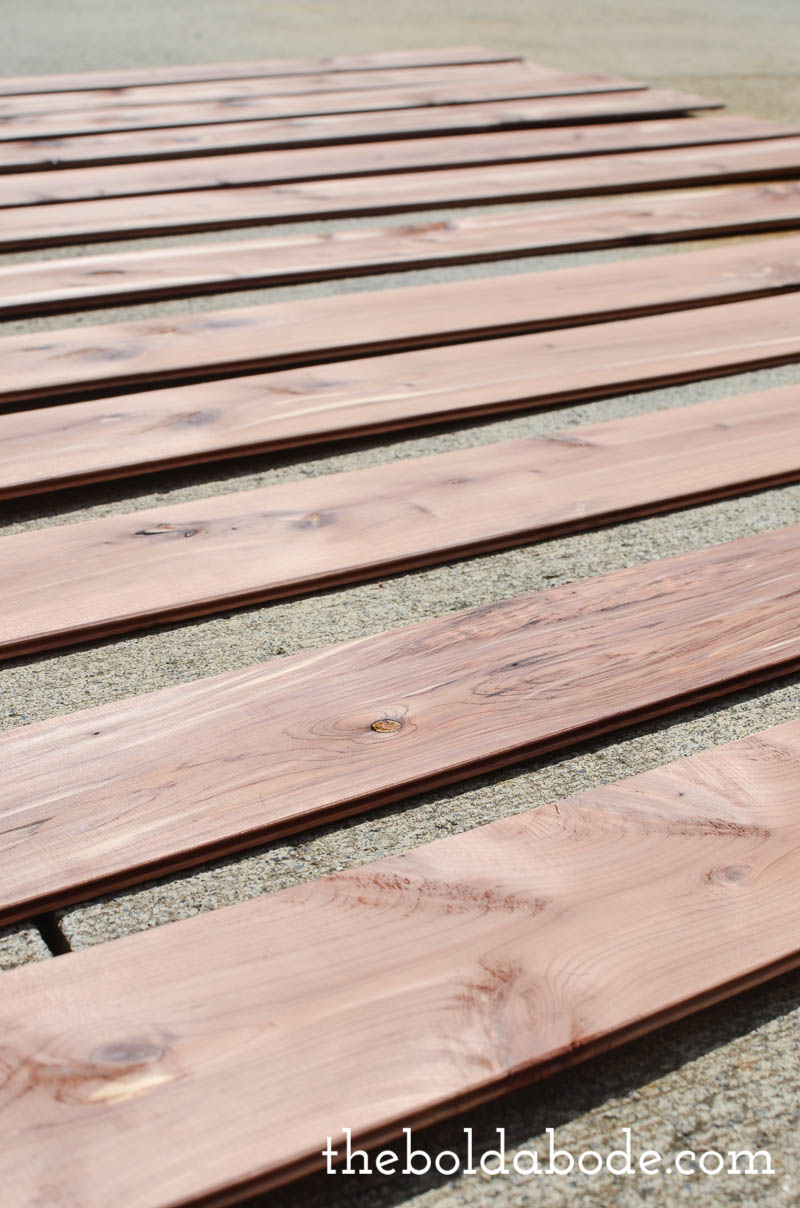 geometric cedar planked wall-2