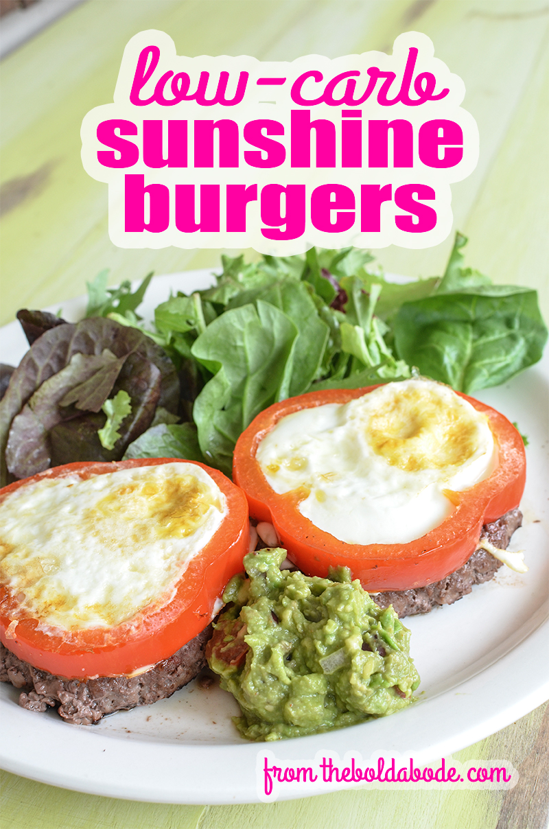 Rock your burger world with these low-carb Sunshine Burgers. They are a great way to mix it up when you're at a loss for what to fix for dinner!