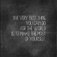 Make the Most of Yourself – another BOLD Printable
