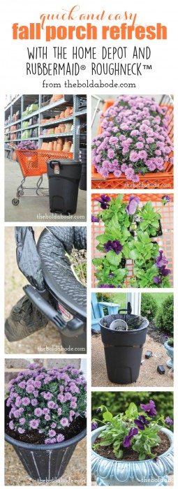 Quick and Easy Fall Porch Refresh with The Home Depot and Rubbermaid® Roughneck™
