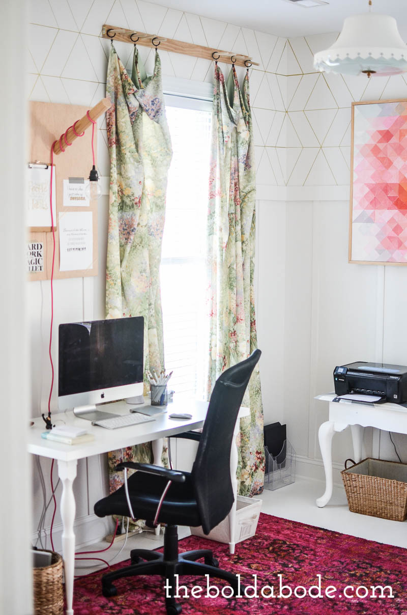 Pink Rugs For Living Room Office Update With A New White Floor And The Most Gorgeous Pink