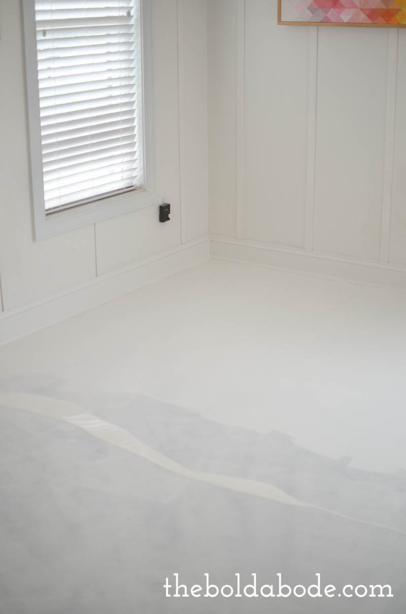 paint concrete slab floor