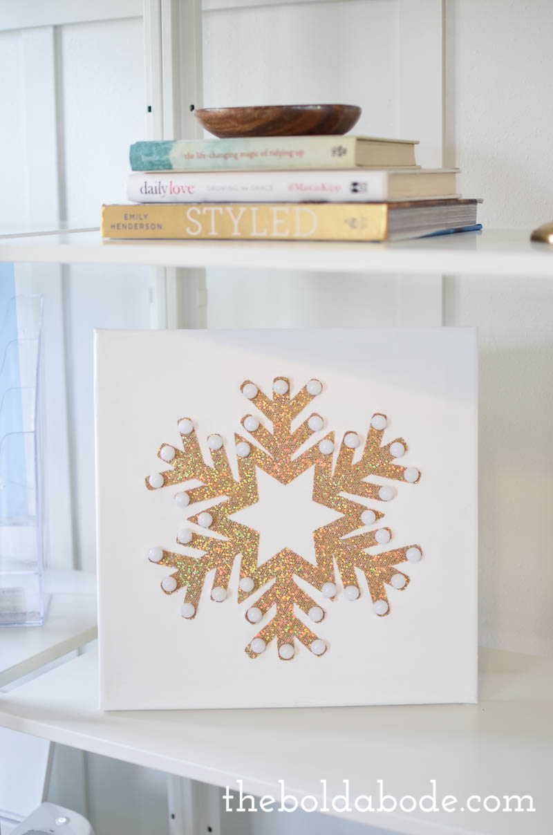 DIY Bright Light Snowflake Canvas: A quick and easy project for your holiday season!