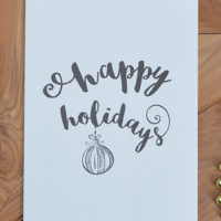 Printing the Holidays: Free Printable Holiday Greeting Card