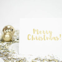 """Gold Foil"" Merry Christmas Card Printable"