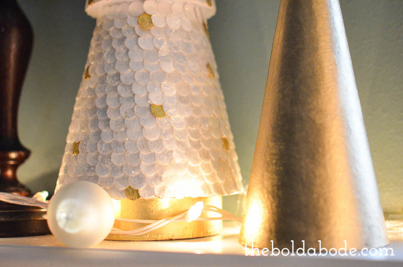 How to make DIY Ornament String Lights - make these for half the cost of Anthropologie or other stores. They are so pretty!