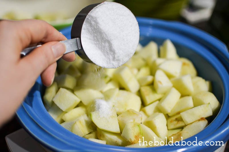 slow cooker cranbery applesauce-3