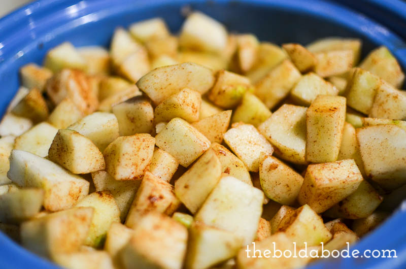 slow cooker cranbery applesauce-6
