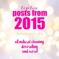 The Top Ten Posts of 2015