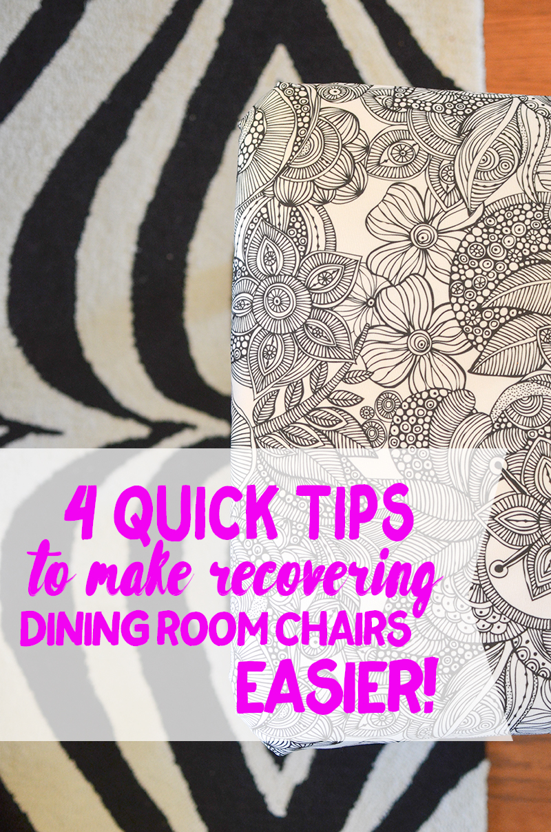 recover dining room chairs - How To Recover Dining Room Chairs