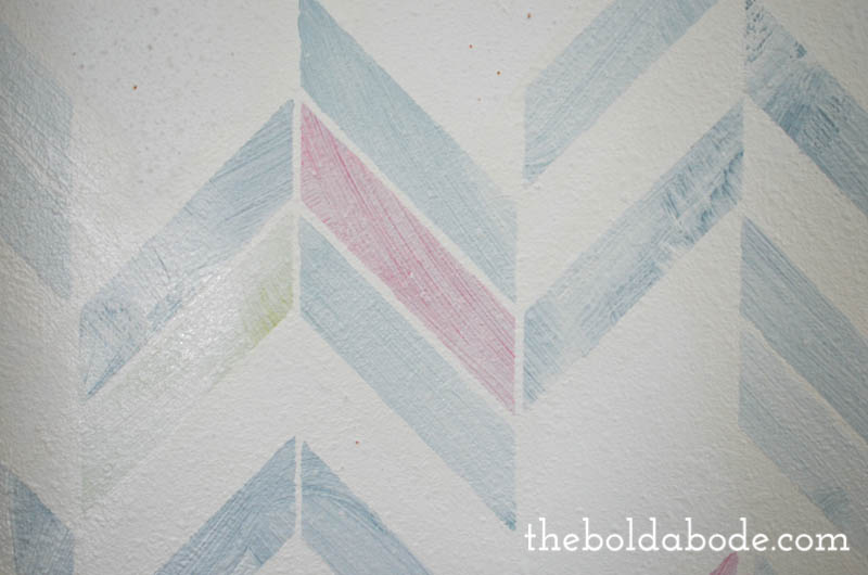 how to paint over a stenciled wall-8