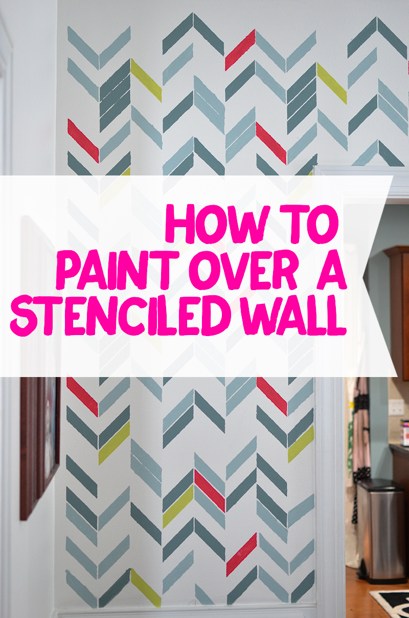 How to Paint over a stenciled wall. it's not hard, but if you follow these steps, you'll have a smooth, clean paint job!