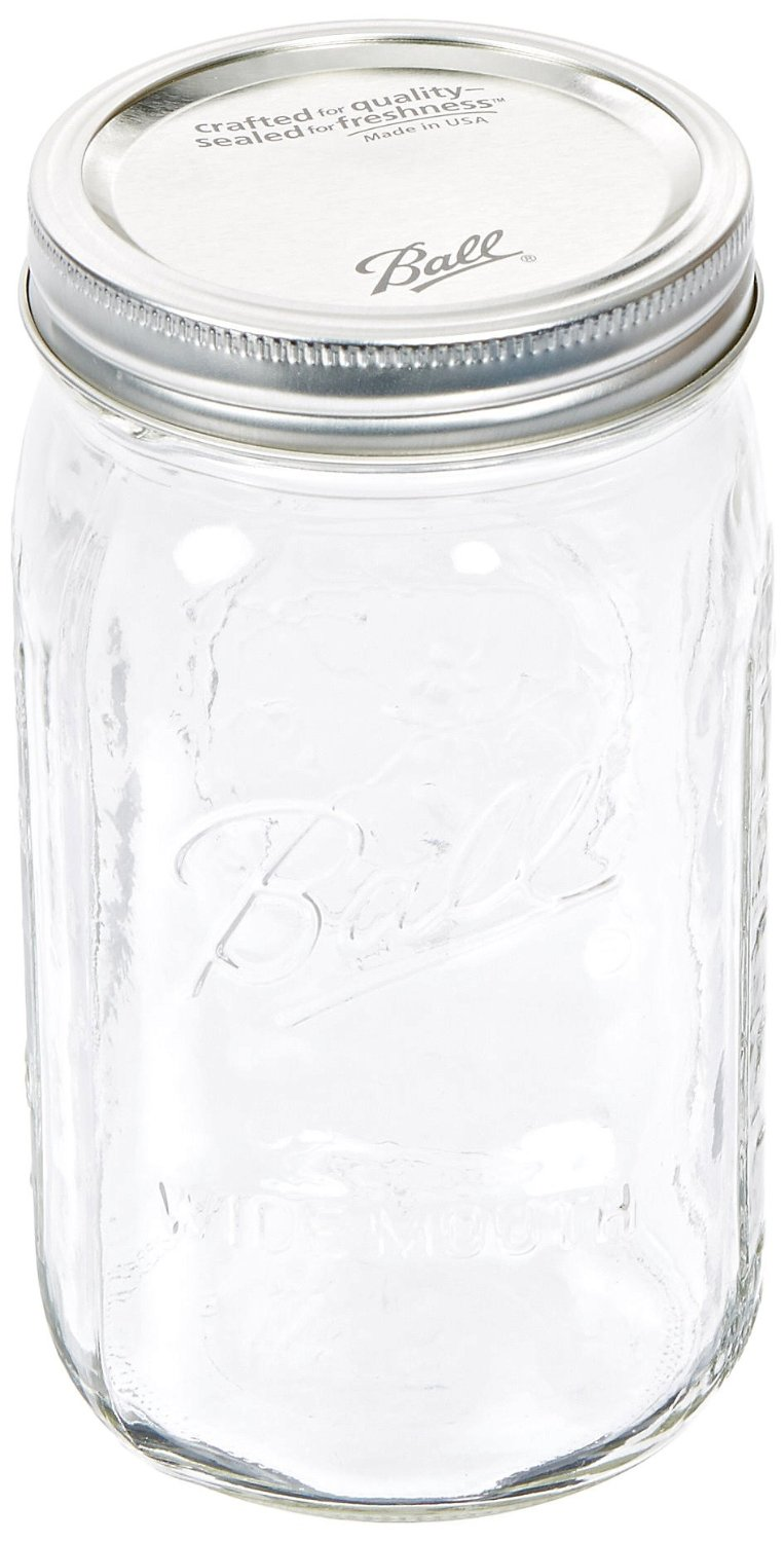 Extra Large Mason Jar for storing your deodorizing mix.