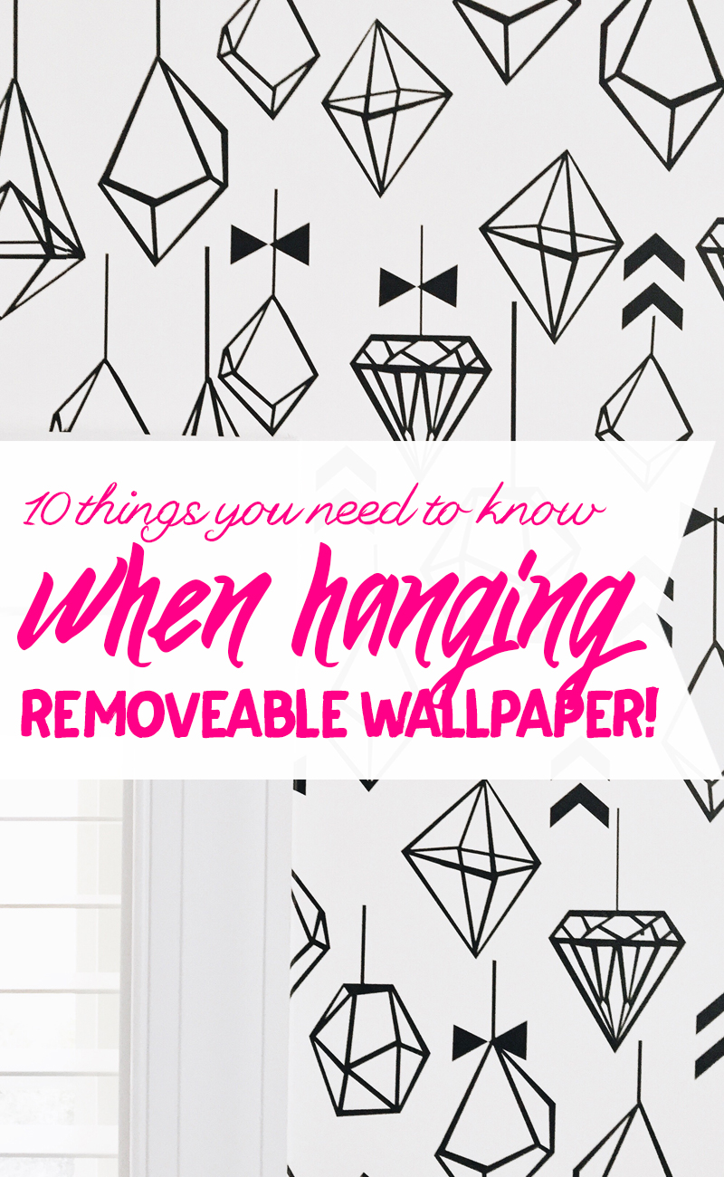 Removable wallpaper is amazing, and these 10 tips will make it even easier to hang!
