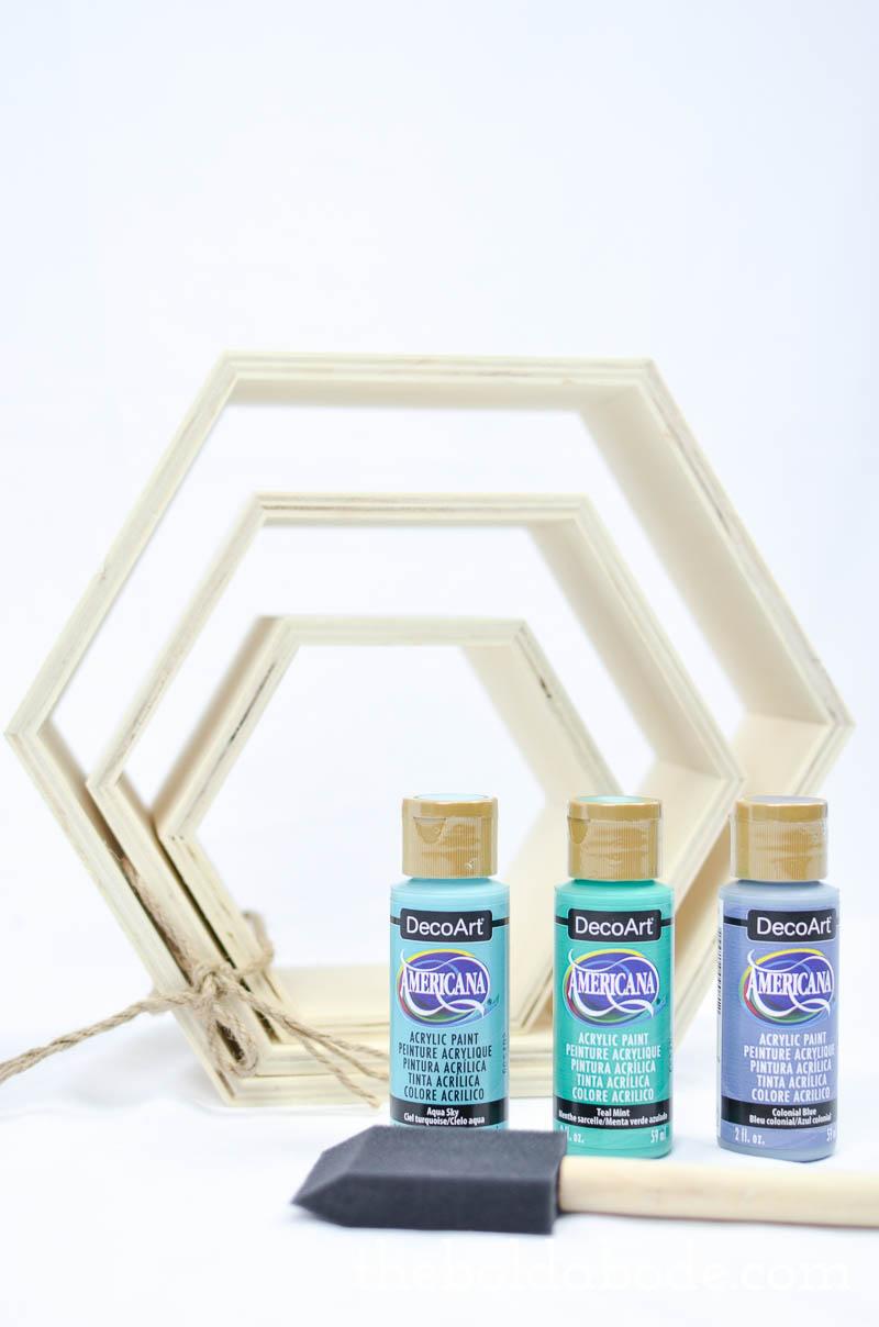 color pop hexagon shelves