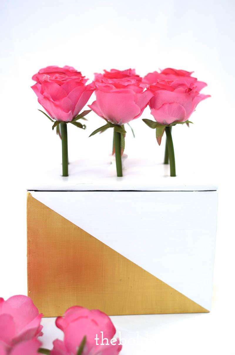diy geometric flower box upcycle-18