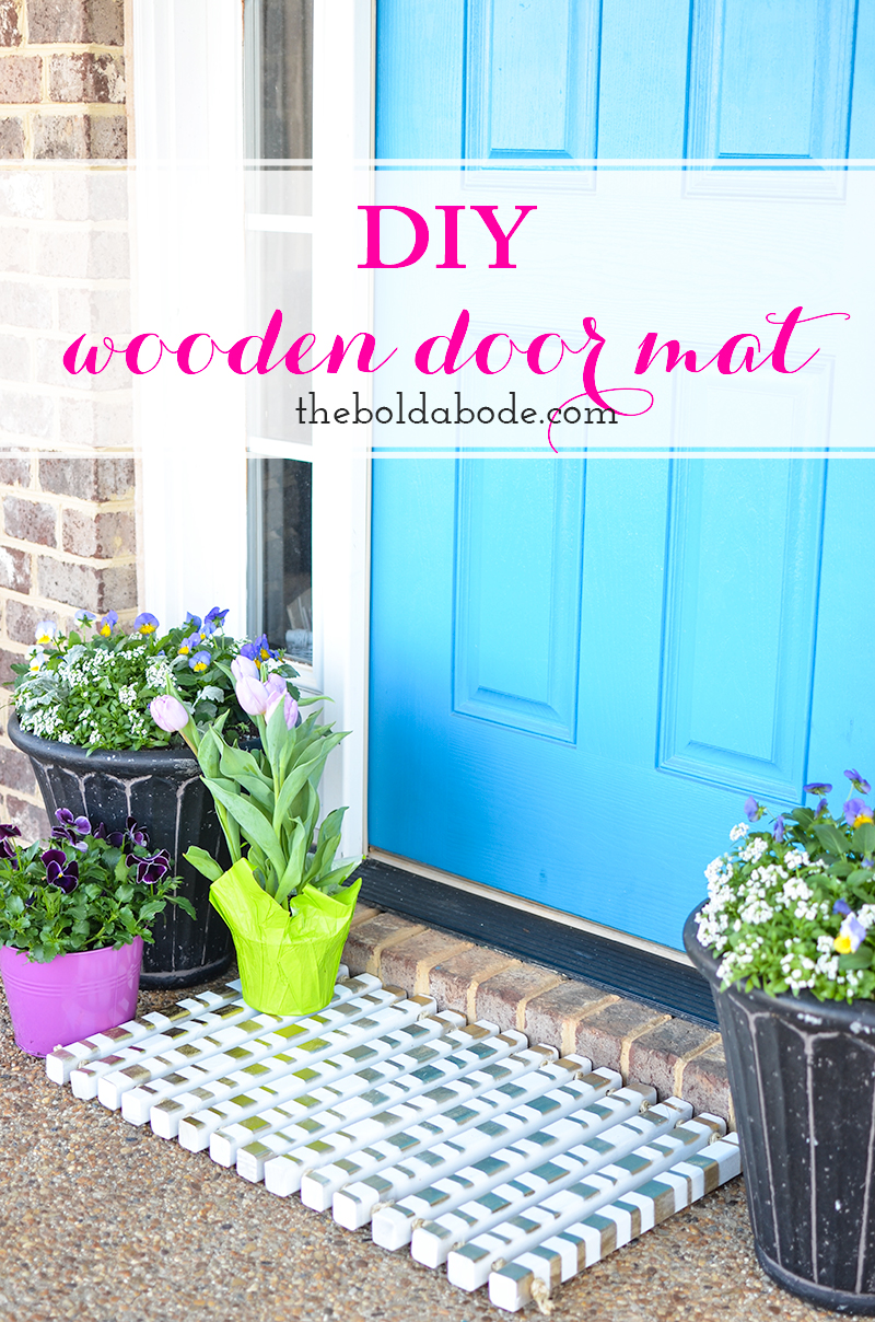 DIY Wooden Doormat with Gold Accents | #DIYWorkshop | Easy DIY | Front Porch | Easy Craft