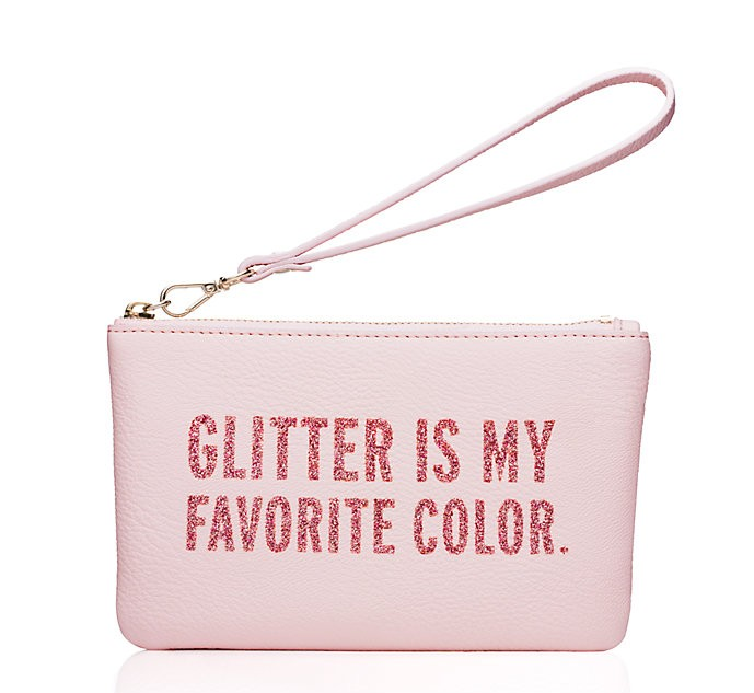 glitter is my favorite color wristlet