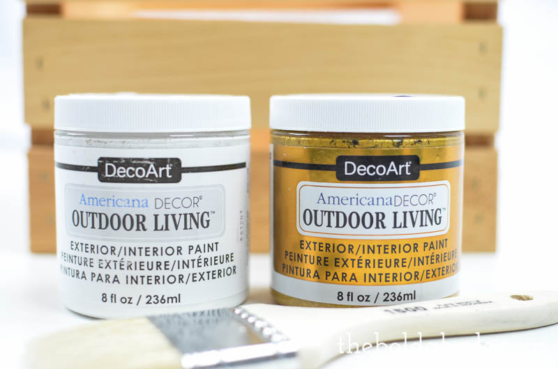 How to make a simple DIY Flower Pot Crate with DecoArt Americana Outdoor Living Paint. Bling out your porch for summer! #sponsored