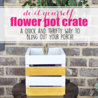 DIY Flower Pot Crate