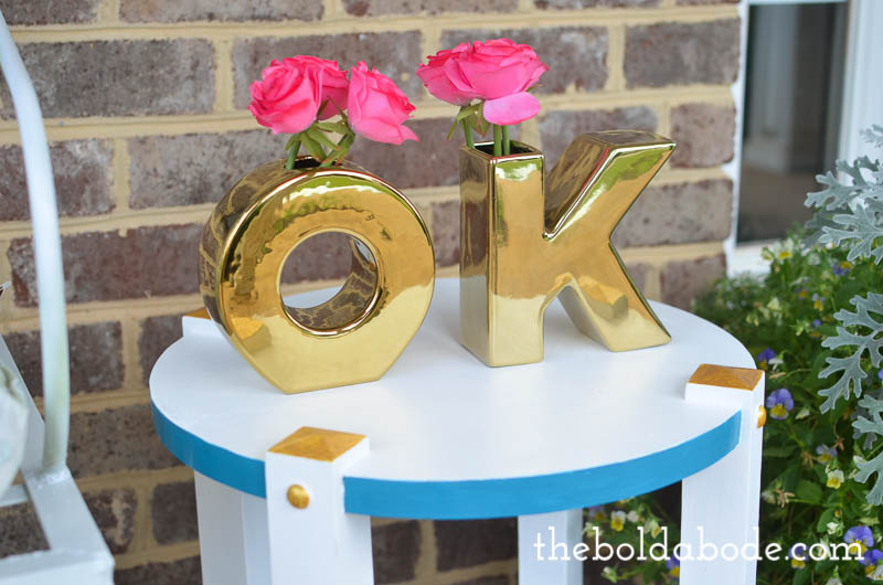 diy white table gold accents-9