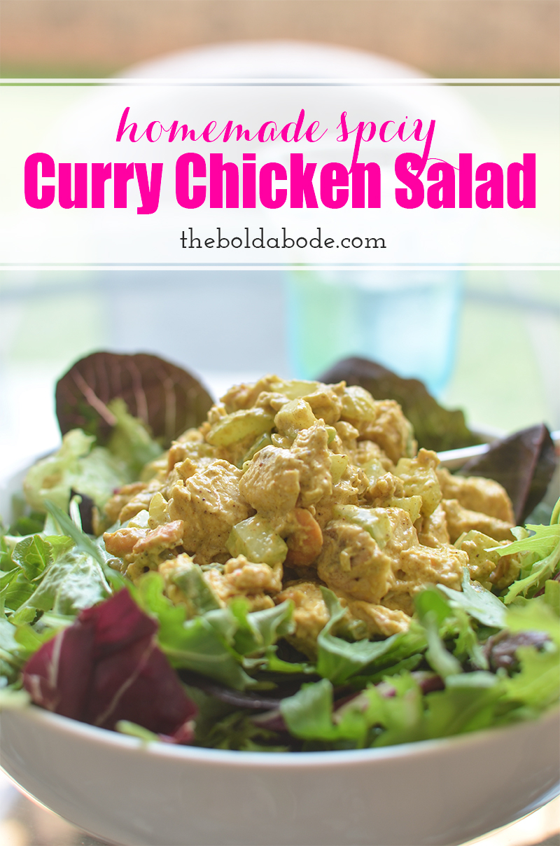 The best chicken salad recipe for summer. Spicy Curry Chicken Salad will make your mouth zing with flavor! Serve on a bun or bed of field greens.