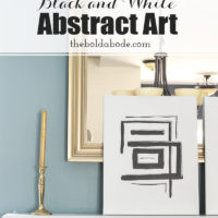 Black and White DIY Abstract Art