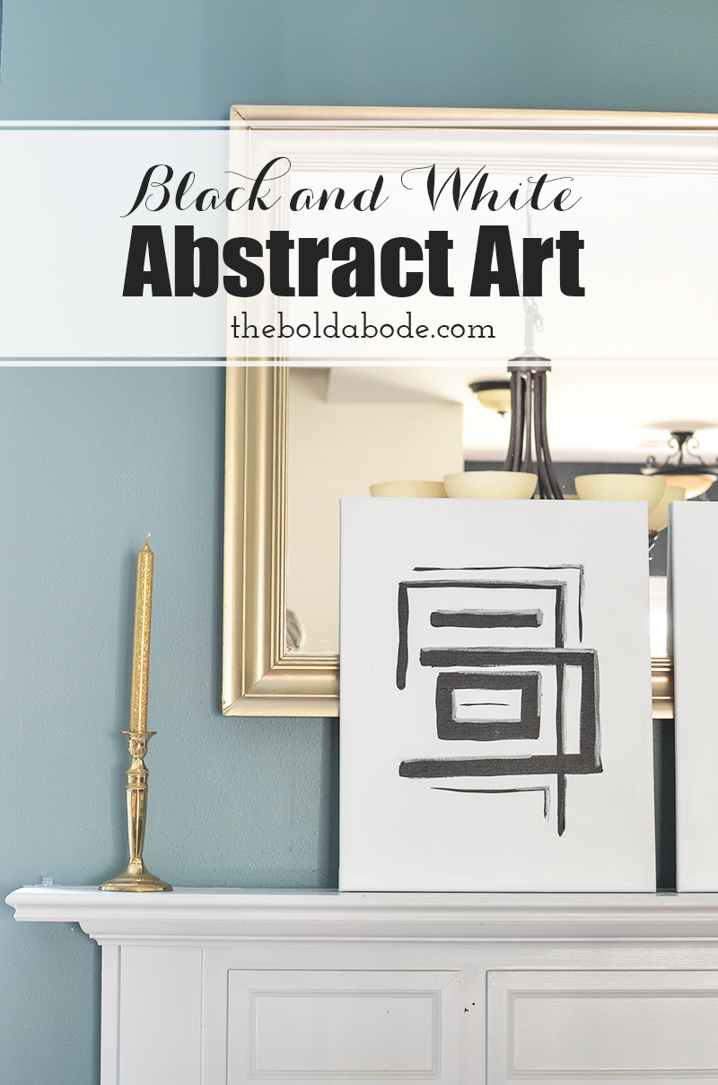 Black and White DIY Abstract Art. Don't spend buckets of moolah on art. Make it yourself! In this post, I will show you how easy and quick it really is!