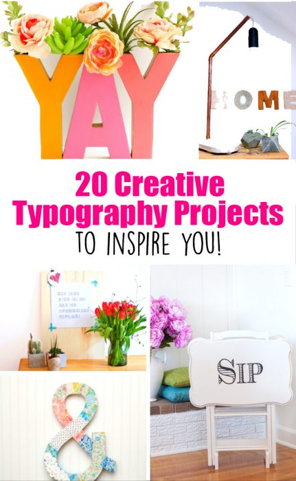 20 Creative Typography Projects to Inspire You! These ideas are so fun and would make any home a happier place.