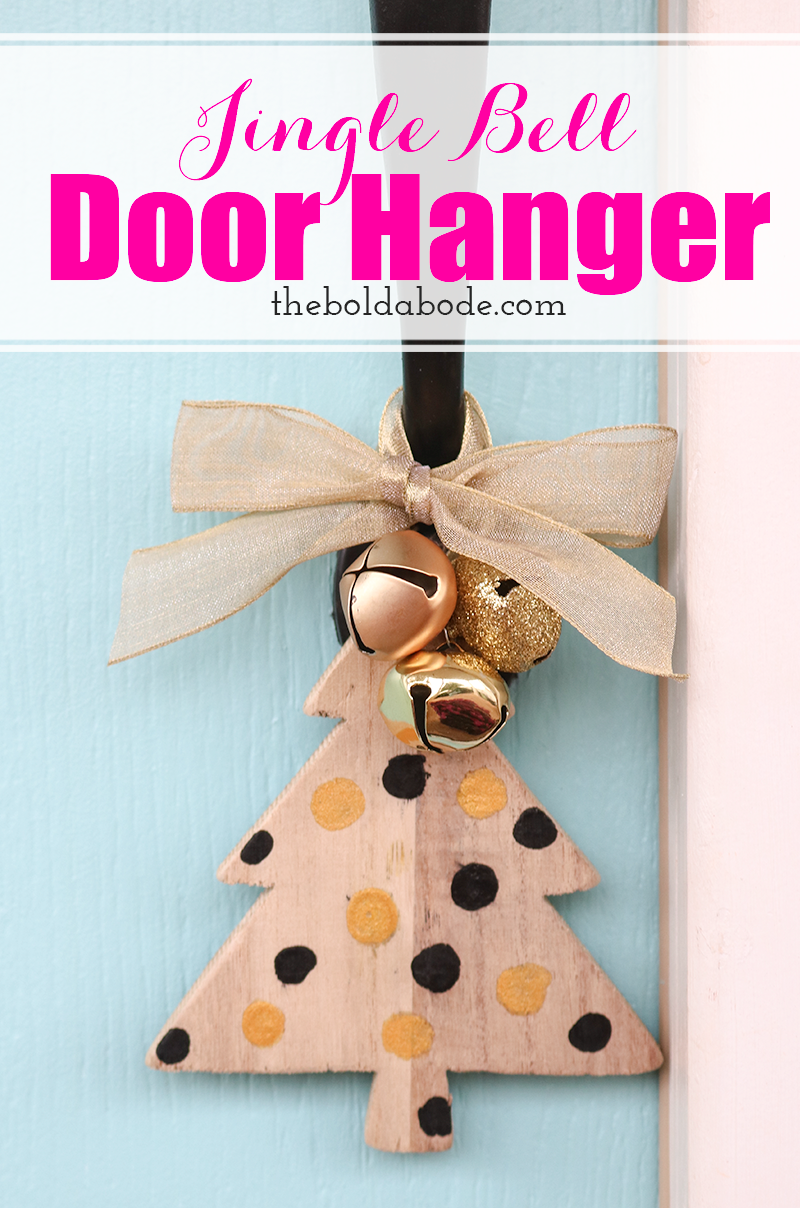 Jingle Bell Door Hanger: a quick and easy Christmas decoration you can make for your door or a simple gift!