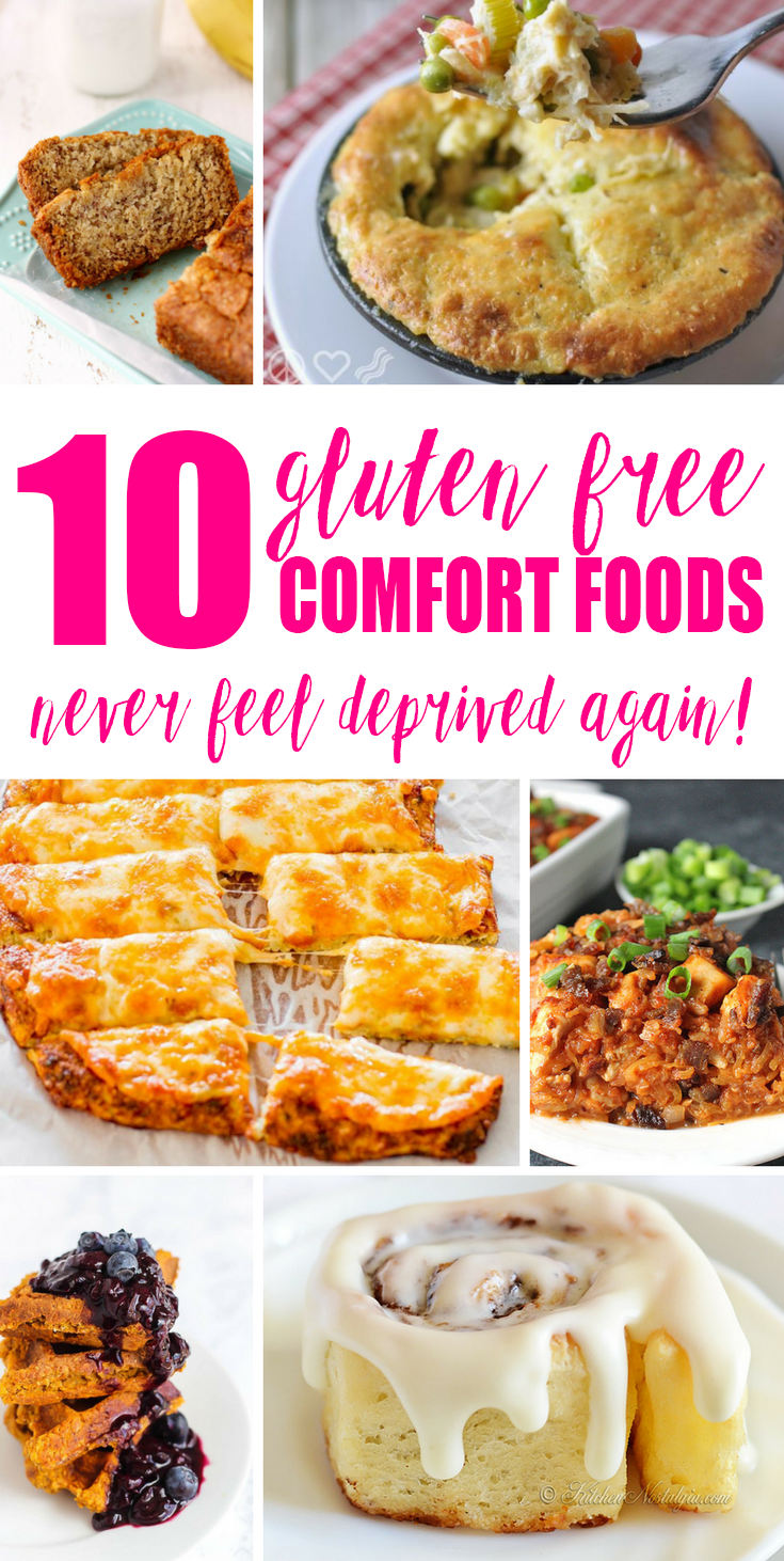 In the winter, I just love to curl up with some warm, starchy comfort food. And if you're gluten-free, it doesn't mean you have to suffer and go without! There are so many ways to get your comfort on and stay away from the dreaded, monstrosity that is Gluten! Here are 10 Gluten Free Comfort Foods so you never feel deprived again!