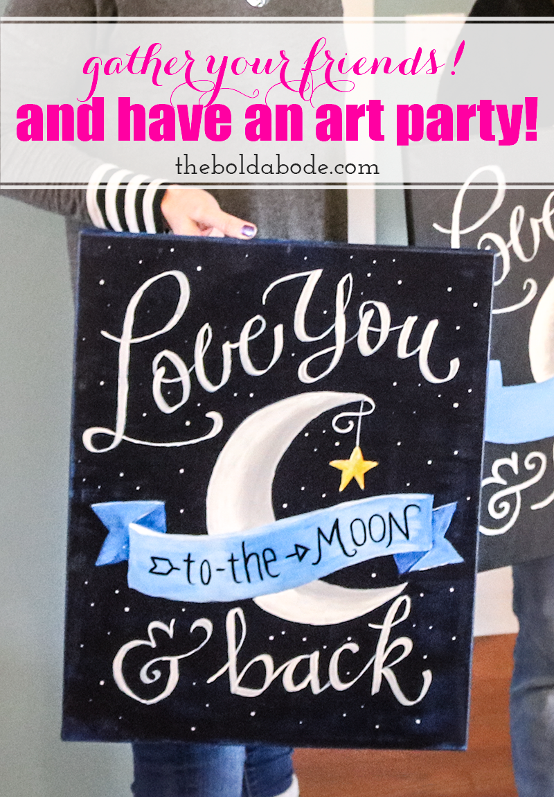 Grab your friends and throw an amazing Art Party! Creative girls are so much fun and what a great opportunity to eat, drink and throw some paint around! Thank you to DecoArt for partnering with me on this party. :)