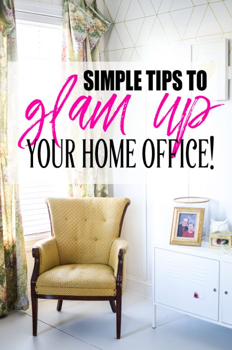 10 Easy Ways to Glam Up Your Home Office | If you have/get/love to work at home, you should have a space that sparkles and shines! Use these simple tips to make your space Glammerific!