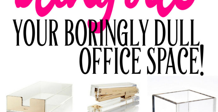 15 Beautiful Office Supplies to Bling Out Your Boringly Dull Workspace (especially for Uber Fans of Kate Spade!)